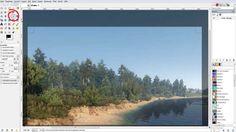 Hier finden Sie in GIMP das Werkzeug zum Zuschneiden.