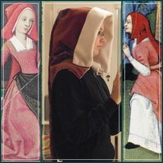 15th century hood 1500s Fashion, Female Clothing, 15th Century, Medieval, Clothes For Women, Woman, Sewing, Outerwear Women, Dressmaking