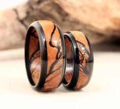 Ebony, Spalted Maple Wooden Ring