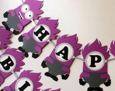 Mickey Mouse Minion birthday party por RaisinsPartySupplies en Etsy
