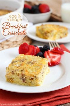 Egg & Sausage Breakfast Casserole | an easy and delicious casserole made with egg, sausage, cottage cheese & green chilies that everyone loves! Perfect for breakfast, brunch and parties.