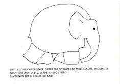 "Maestra Mariangela: PROGETTO ACCOGLIENZA "" ELMER L'ELEFANTE VARIOPINTO"" Snoopy, Symbols, Education, Maria Grazia, Character, Mondrian, Party, Weather, Lab"