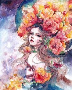Margaret Morales Art is offline Art Anime, Anime Kunst, Kunst Inspo, Art Inspo, Art And Illustration, Fantasy Kunst, Fantasy Art, Amazing Drawings, Art Drawings