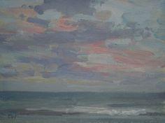 'Gentle evening sea' Oil 15x20cm