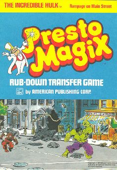 Presto Magix - you placed the film with the picture on a sheet of paper than rubbed a pencil all over the back of the film. The image would be on your paper.
