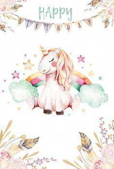 Birthday Unicorn Unicornwallpaper Unicorn Wallpaper Unicorn Illustration Unicorn Pictures Happy birthday unicorn wallpaper