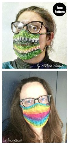 Below are several simple and easy Face Mask Free Knitting Pattern to DIY Face Masks. These face masks only use basic materials, and they are easy to make. Knitting Patterns Free, Knit Patterns, Free Knitting, Free Pattern, Funny Face Mask, Easy Face Masks, Diy Face Mask, Knitted Teddy Bear, Easy Knitting Projects