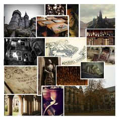 """Hogwarts Aesthetic: Back To Witches and Wizards"" by thehelsinghatter ❤ liked on Polyvore featuring art"