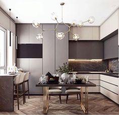 Modern Luxury Kitchens For A Grand Kitchen Kitchen Room Design, Best Kitchen Designs, Living Room Kitchen, Interior Design Kitchen, Kitchen Decor, Kitchen Dining, Luxury Kitchens, Home Kitchens, High End Furniture Stores