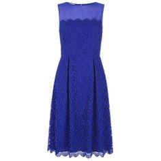 Buy Hobbs Invitation Marlena Dress, Bright Blue Mul Online at johnlewis.com