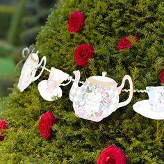 Alice in Wonderland teapot bunting