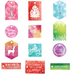 These versatile tags are just the thing for making your own unique wrapped gifts for Christmas! Add watercolor on top, then top your gifts for an extra special touch. They can be customized to any wrapping paper or color, so you can create the perfect topper to your artistically wrapped gifts! Watercolor Resist Tags - Sweet Peppermint 991555