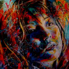 David Walker- graffiti artist.. Does portraits full of vibrant colors.. I simply love it!