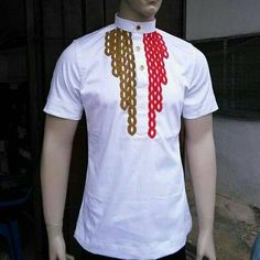 African men shirt/african men's embroidered shirt/african white shirt/ african men outfit/ african men shirt only for all occasions . African Shirts For Men, African Attire For Men, African Men Fashion, African Wear, African Dress, Dashiki Shirt, Couture, Men Shirt, Outfits