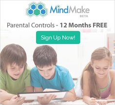 Parental Controls iPhone and iPad. FREE limited time 12 month trial! https://www.mindmake.com/earlypromo #parentalcontrols #ipad #iphone #onlinesafety #parents #kids