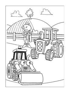 Byggmester Bob Fargelegging for barn. Tegninger for utskrift og fargelegging nº 33