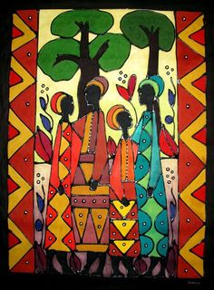 Large Tribal Ladies - Gallery - African Art Direct