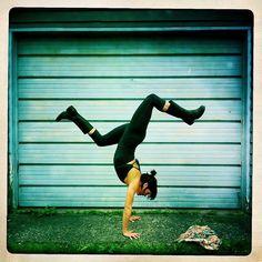 yogaisforeverybody:    Meghan Currie...yoga and wellies!
