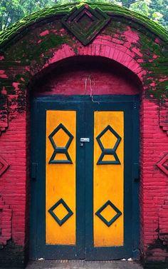 Cirebon, Java, Indonesia Arched Doors, Old Doors, Entrance Doors, Doorway, Windows And Doors, Portal, Shutter Designs, When One Door Closes, Unique Doors
