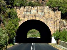 A view from the old Du Toit's Kloof pass of the old Du Toit's Kloof tunnel near Paarl, South Africa.