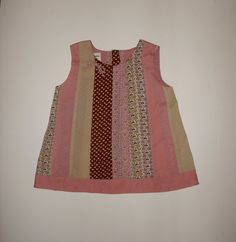 Upcycled Pink and Brown Striped Toddler Sleeveless by KarenHeenan, $26.00 - SOLD