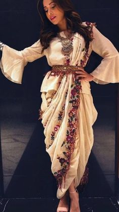 Indian Gowns Dresses, Indian Fashion Dresses, Indian Designer Outfits, Indian Fashion Modern, Indian Outfits Modern, Indian Fashion Trends, Saree Fashion, Bollywood Fashion, Dhoti Saree