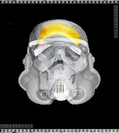 stormtrooper x-ray Art Print by Vin Zzep