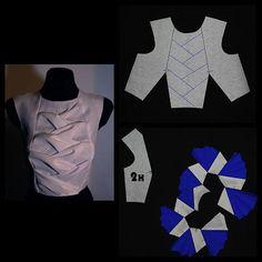 Kurti Patterns, Dress Sewing Patterns, Clothing Patterns, Pattern Draping, Bodice Pattern, Corsage, Textile Manipulation, Knitted Mermaid Tail Blanket, Recycled Dress