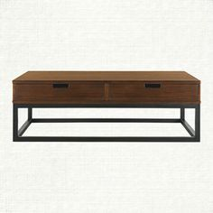 "47"" W X 27"" D X 16"" H Palmer 47"" Rectangle Coffee Table In Brown 
