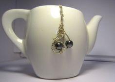 One of a Kind Hemetite and Sterling Silver by LobeliaBlueJewellery, £25.00
