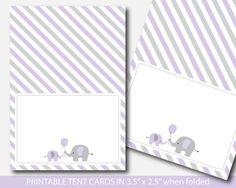Mint green elephant baby shower food labels, Food tent cards, Place cards, Food tent labels, Place s Elephant Birthday, Boy Birthday, Purple Elephant, Elephant Baby, Baby Shower Buffet, Shower Tent, Food Tent, Tent Cards, Food Labels
