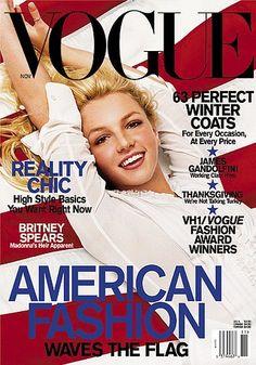Britney Spears gettin' patriotic for Vogue, 2001