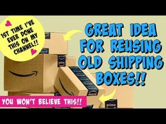 CARDBOARD BOX UPCYCLE/clever way to reuse AMAZON BOXES, etc! Storage DIY - YouTube Cardboard Crafts, Paper Crafts, Cardboard Houses, Reuse, Recycle Paper, Upcycle, Box Templates Printable Free, Paper Art Projects, Craft Projects
