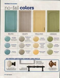 HGTV No-Fail Colors Love the green, yellow and blue paint colors. by deena