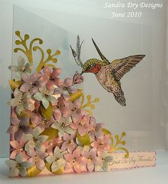 I love the look of this acetate card from Sandra Dry Designs: Just to say Thanks! Kirigami, Acetate Cards, Karten Diy, Bird Cards, Decoupage, Card Sketches, Copics, Card Tags, Paper Cards