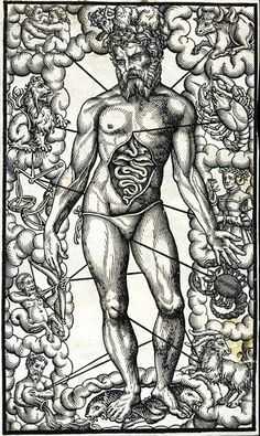 Medical astrology posits the association of each sign of the zodiac with parts of the body, and was already mentioned by Marcus Manilius(1st century AD) in his epic poem (8000 verses) Astronomica. The signs of the zodiac were believed to preside over the parts of the body, covering the body from head (Aries) to toe (Pisces), as follows: