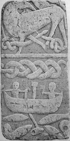 Thor's fishing trip - possibly 10th century. In Norse mythology, Midgårdsormen - Jörmungandr also knownas the Midgard Serpent or World Serpent, is a sea serpent, the middle child of the giantess Angrboða and the god Loki. According to the 'Prose Edda',  Odin took Loki's three children by Angrboða and tossed Jörmungandr into the great ocean that encircles Midgard. The serpent grew so large that he was able to surround the earth and grasp his own tail. Whenhe lets go, the world will…