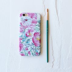 Pastel Peony Garden Watercolor Cell Phone Case