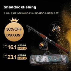 Fiberglass Telescope Baitcasting Fishing Rod And Waterproof Bag Combo Rod And Reel, Spinning Reels, Bass Fishing, Fishing