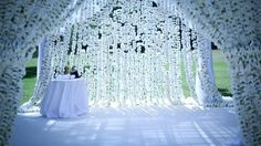 The ultimate Chuppah made of thousands of carnations sewn by hand by Fleur McHarg of fleurs www.fleurs.com.au
