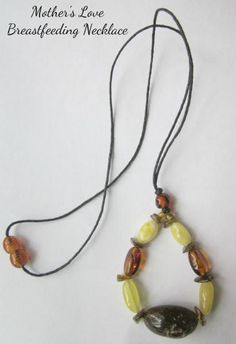 "Breastfeeding Necklace Baltic Amber ""Mother's Love"" Nursing Necklace"