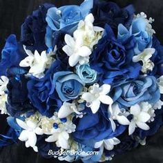 Blue Wedding Bouquet Needs the green and to be brighter