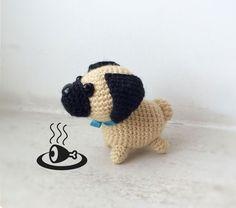 Little crochet pug dog - free amigurumi pattern