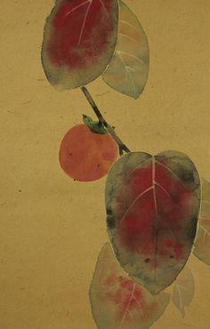 so very sorry I didn't bid on this lovely number.fall fruit and leaves. Fall Fruits, Etchings, Chinese Painting, Asian Art, Baby Items, Design Inspiration, Leaves, Paintings, Japanese