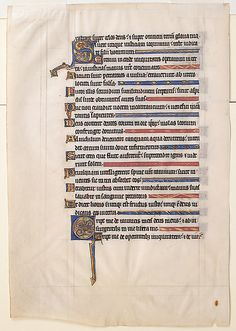 Manuscript Leaf from a Psalter, 13th cent., England