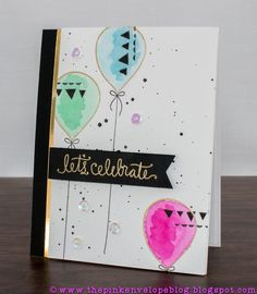 The Pink Envelope: Simon Says Stamp September Card Kit - Let's Celebrate