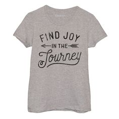 Find Joy In The Journey Womens Short Sleeve Fitted Tee