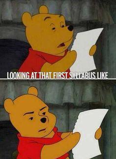 Looking at that first syllabus meme