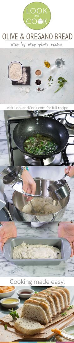 How to make olive & oregano bread is part of home Made Bread - OLIVE & OREGANO BREAD RECIPE This freshly baked home made bread with flavours and aromas of oregano is irresistible Donut Recipes, Bread Recipes, Snack Recipes, Cooking Recipes, Snacks, Healthy Dishes, Healthy Cooking, Food Dishes, Rusk Recipe