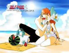 Bleach// Ichigo and Orihime Bleach Manga, Bleach Art, Ichigo E Orihime, Bleach Couples, Comic Games, Anime Sketch, Fantasy World, Shoujo, Anime Couples